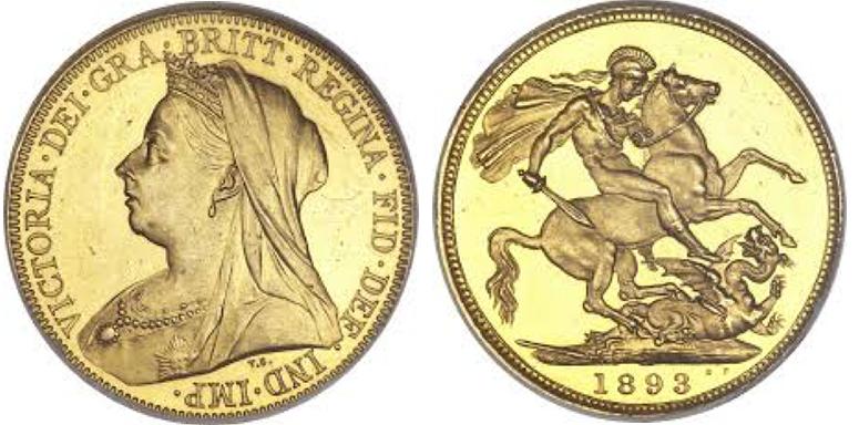 Χρυσή Λίρα Αγγλίας –Βικτώρια 3ο πορτρέτο – Gold Sovereign Victoria 3rd portrait