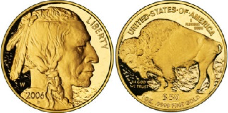 50 Χρυσά Δολάρια / 50 Gold Dollars American Buffalo