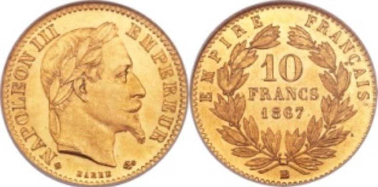 10 Χρυσά Φράγκα Ναπολέων ΙΙΙ / 10 Gold Francs Napoleon III