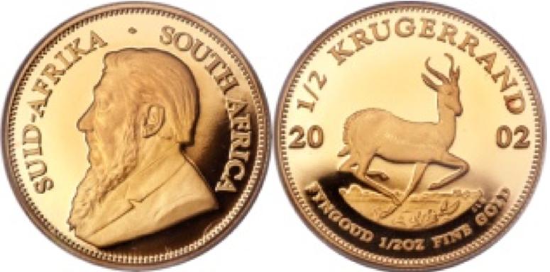 ½  Χρυσό Κρούγκεραντ  / ½  Gold Krugerrand