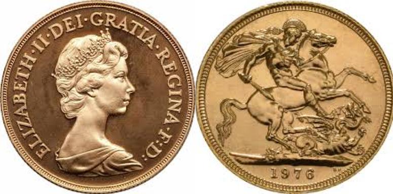 Χρυσή Λίρα Αγγλίας -Ελισάβετ II 2ο πορτρέτο  – Gold Sovereign Elizabeth II 2nd portrait