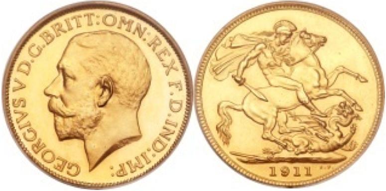 Χρυσή Λίρα Αγγλίας Γεώργιος V  – Gold Sovereign George V