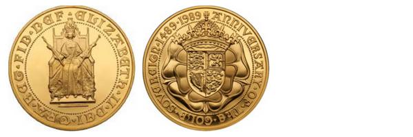 η χρυσή λίρα με τη Βασίλισσα Ελισσάβετ από το 1988