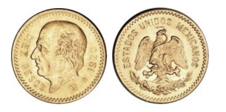 10 Χρυσά Πέσος / 10 Gold Pesos