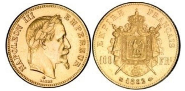 100 Χρυσά Φράγκα Ναπολέων ΙΙΙ / 100 Gold Francs Napoleon III