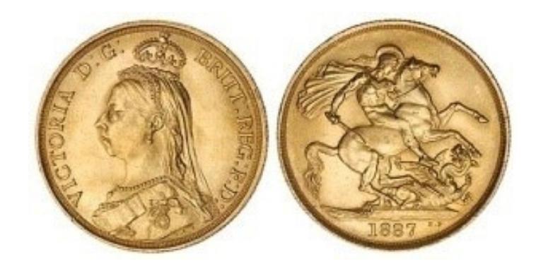 5 Λίρο Αγγλίας / 5 Gold Pounds