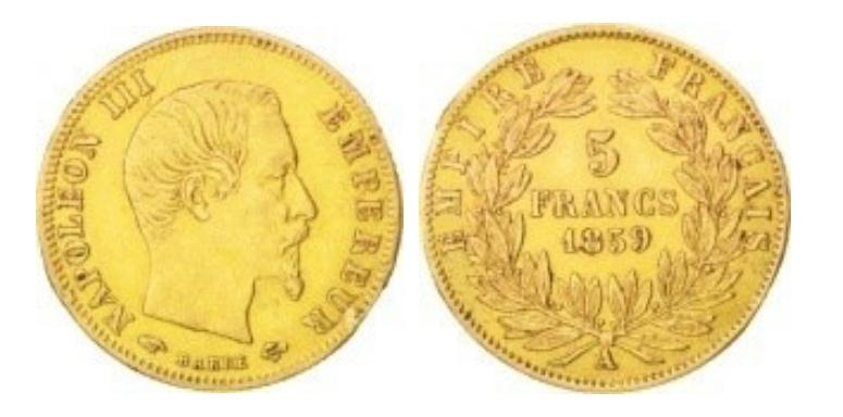 5 Χρυσά Φράγκα Ναπολέων ΙΙΙ / 5 Gold Francs Napoleon III