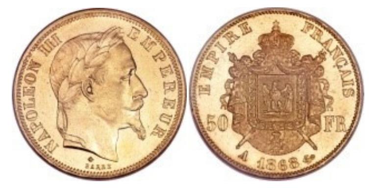 50 Χρυσά Φράγκα Ναπολέων ΙΙΙ / 50 Gold Francs Napoleon III