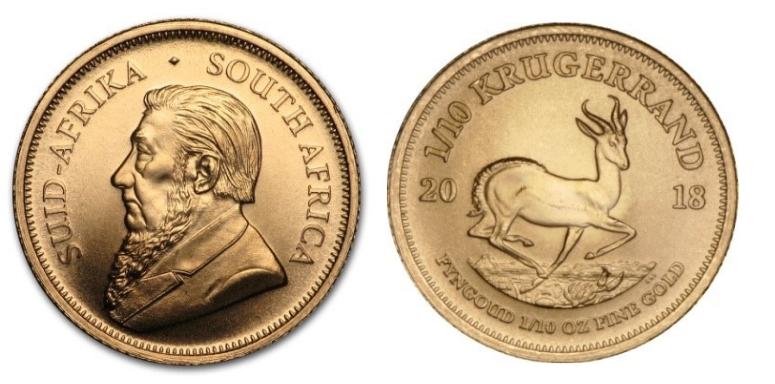 1/10 Ουγκιά Χρύσο Κρούγκεραντ / 1/10 Once Gold Krugerrand