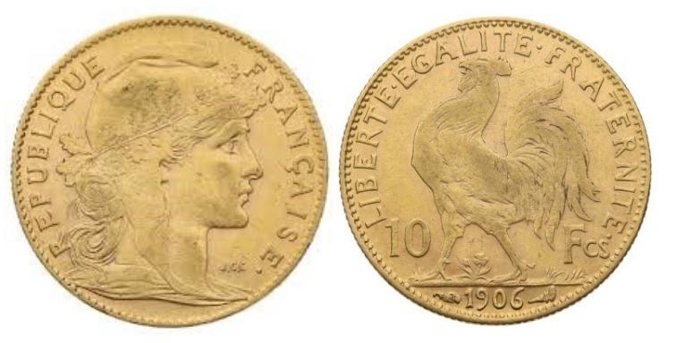 10 Χρυσά Φράγκα/10 Gold Francs