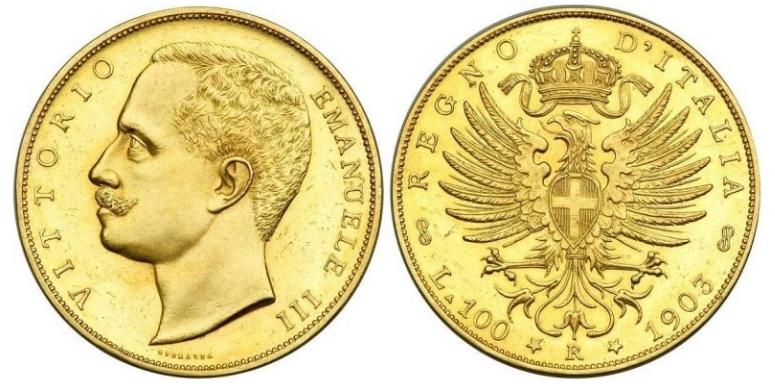100 Χρυσές Λιρέτες Vittorio Emanuele III/100 Gold Lire Vittorio Emanuele III