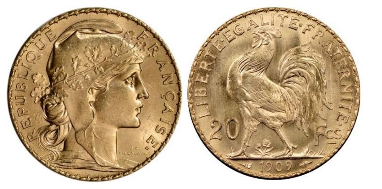 20 Χρυσά Φράγκα/20 Gold Francs