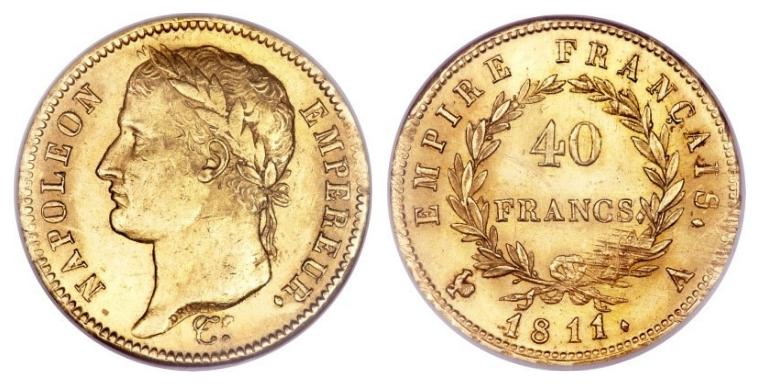 40 Χρυσά Φράγκα Ναπολέων Ι / 40 Gold Francs Napoleon I – France