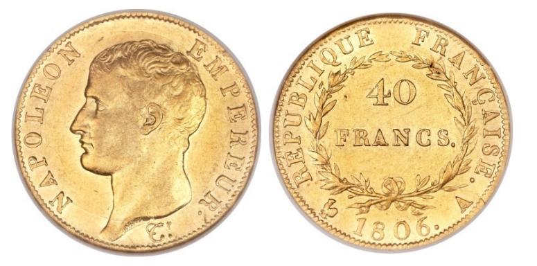 40 Χρυσά Φράγκα Ναπολέων Ι / 40 Gold Francs Napoleon I