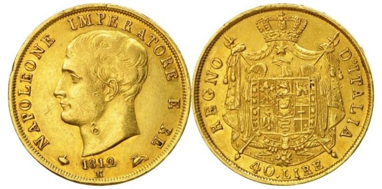 40 Χρυσές Λιρέτες Ναπολέων Ι/40 Gold Lire Napoleon I