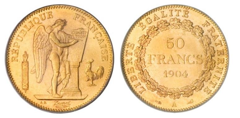50 Χρυσά Φράγκα/50 Gold Francs
