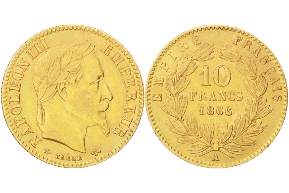 10 χρυσά γαλλικά φράγκα Ναπολέων ο τρίτος