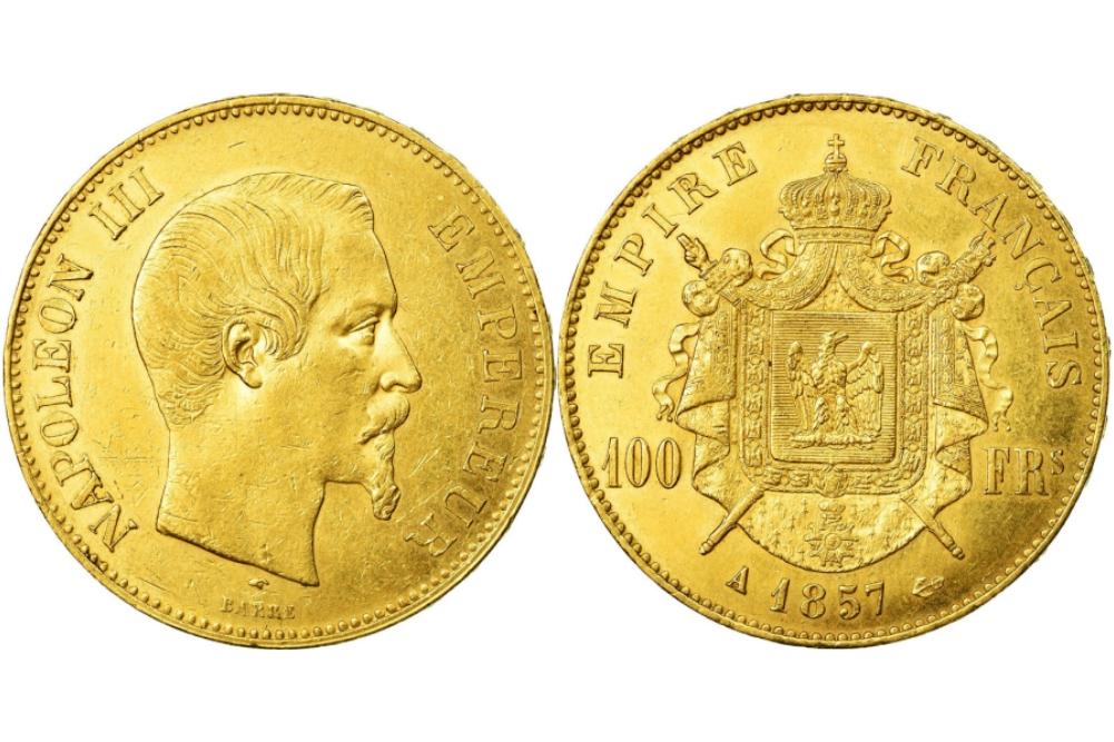 100 χρυσά γαλλικά φράγκα Ναπολέων ο τρίτος