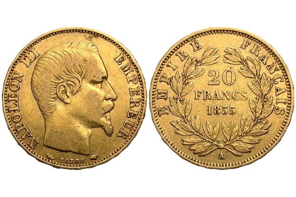 20 χρυσά γαλλικά φράγκα Ναπολέων ο τρίτος