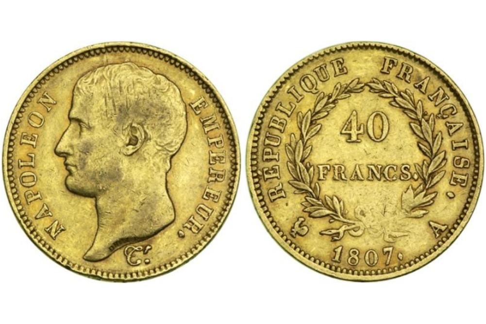 40 χρυσά γαλλικά φράγκα Ναπολέων ο τρίτος