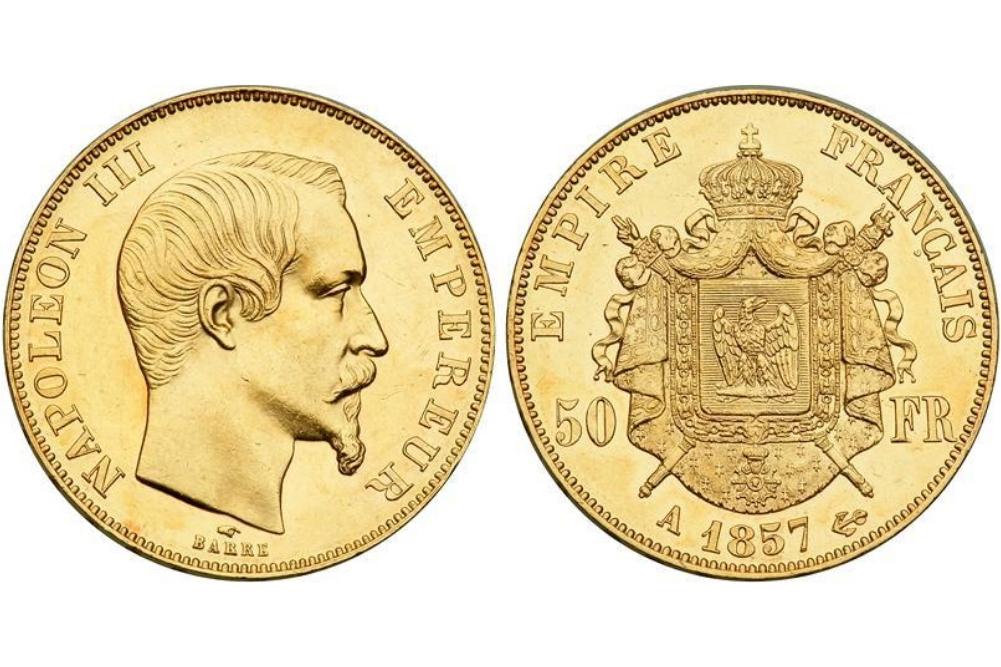 50 χρυσά γαλλικά φράγκα Ναπολέων ο τρίτος