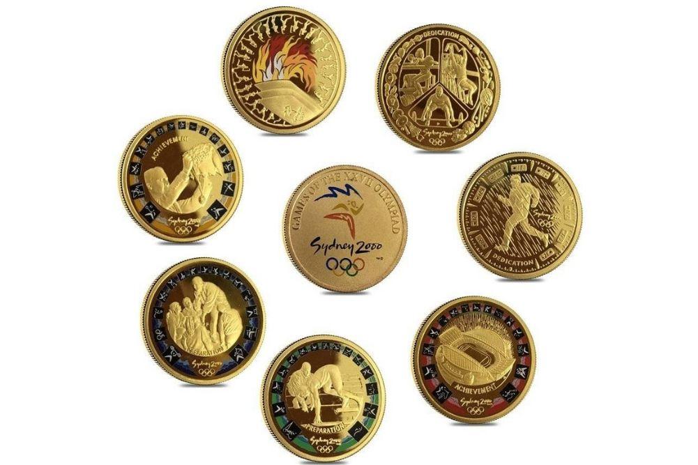 χρυσα νομισματα ολυμπιακων αγωνων συδνει