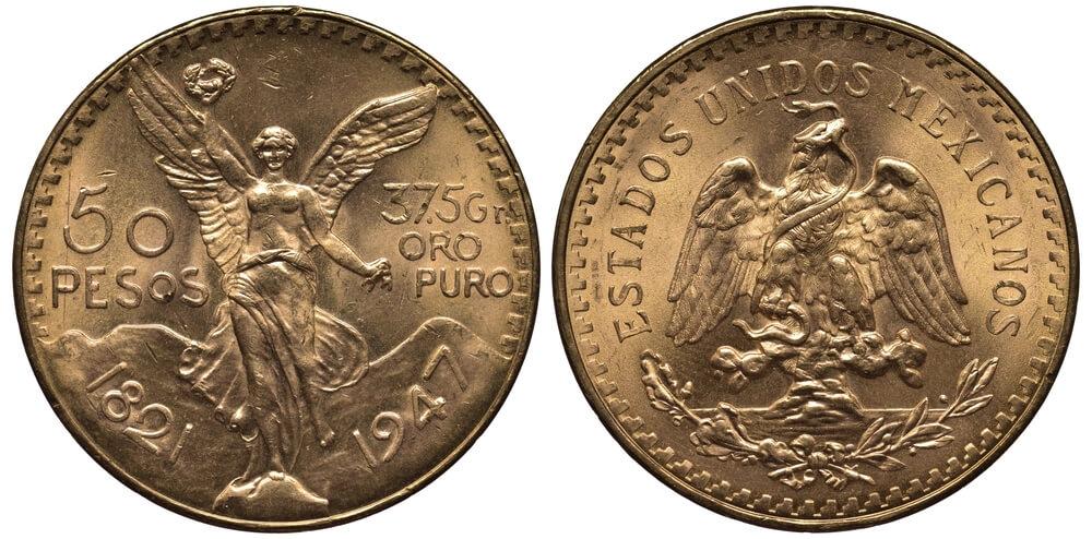 Μεξικανικά χρυσά νομίσματα, πενήντα χρυσά πέσος