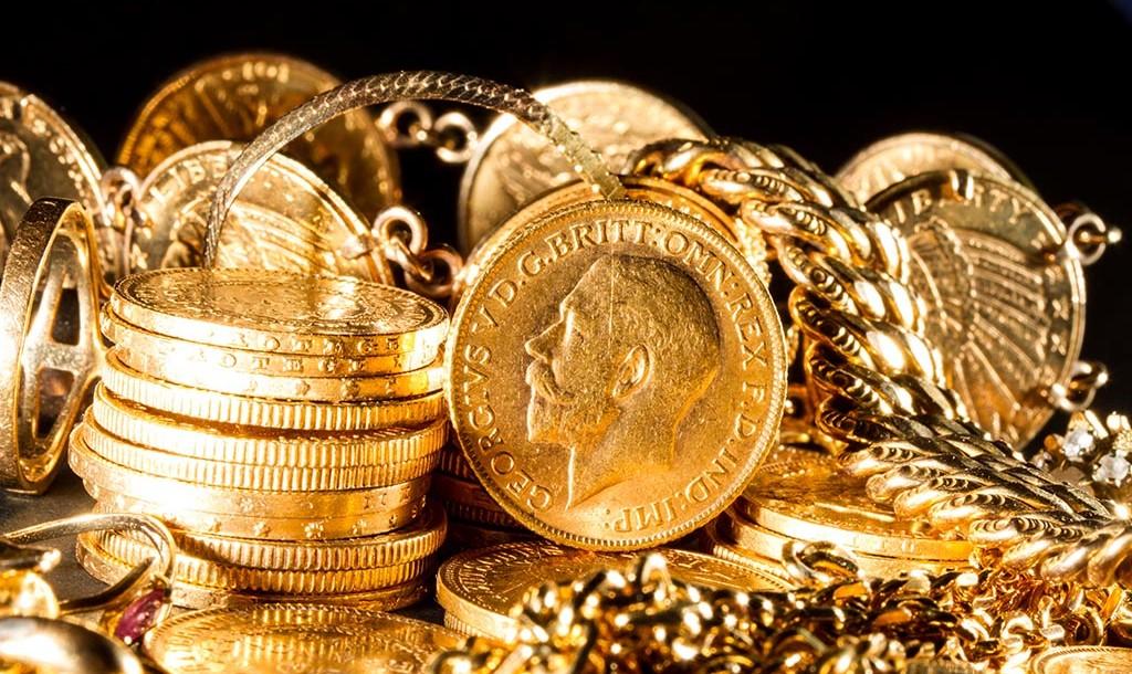 μέταλλο χρυσού σε νομίσματα